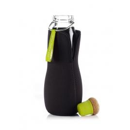 BLACK & BLUM butelka na wodę EAU GOOD z limonkowym korkiem (z pokrowcem)