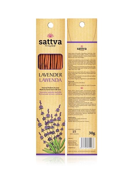 SATTVA AYURVEDA kadzidła zapachowe Incense Lavender