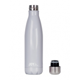 JOY IN ME Butelka termiczna DROP Grey 500 ml