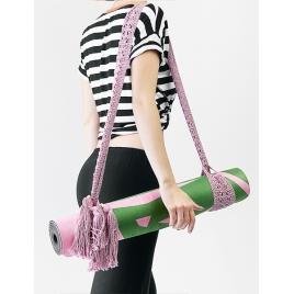 MOONHOLI Pasek do noszenia maty do jogi Pink