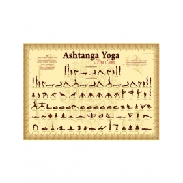 Plakat Ashtanga Yoga Złoty