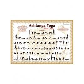 Plakat Ashtanga Yoga Biało-Złoty Seria II