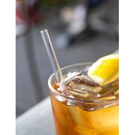 Wielorazowe słomki do picia szklane + czyścik