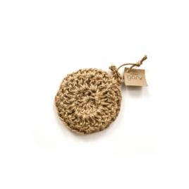 Okrągła myjka do mycia naczyń ze sznurka jutowego 12 cm