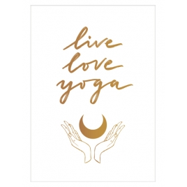 "Plakat ""Live Love Yoga"" biały"