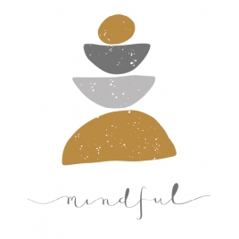 "Plakat ""Mindful"""