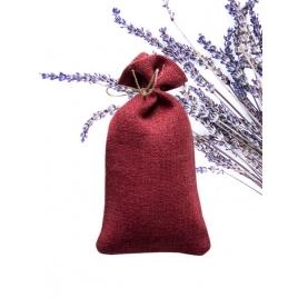 Konopny woreczek zapachowy z lawendą - bordowy