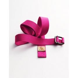 Pasek do jogi różowy (magenta)