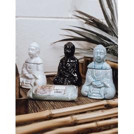 Kominek do aromaterapii - siedzący Budda (czarny)