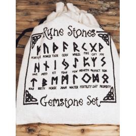 Alfabet Runiczny - runy grawerowane (kryształ)