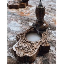 Drewniany kominek Backflow - Hamsa