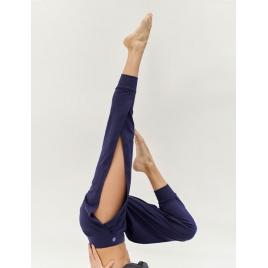 Moonholi Spodnie do jogi Crescent Open Sweatpants (Midnight Blue)