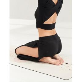 Moonholi Spodnie do jogi Crescent Open Sweatpants (Black Sky)