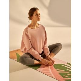 Moonholi Bluza do jogi Cozy AF Oversize Sweatshirt (Glowing Pink)