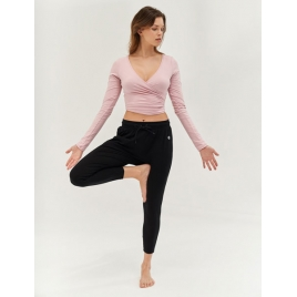 Moonholi Spodnie do jogi Cosmic Cropped Track Pants (Black Sky)