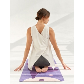 Moonholi Top do jogi Galaxy Open Back Tank (Coconut White)