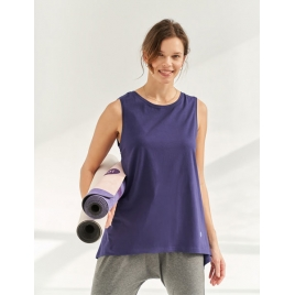 Moonholi Top do jogi Galaxy Open Back Tank (Midnight Blue)