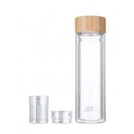 Joy in me Butelka termiczna szklana LEAF 400 ml