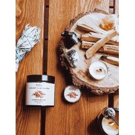 SOy świeca sojowa zapachowa (sandal wood)